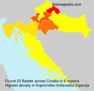 Surname Bastek in Croatia