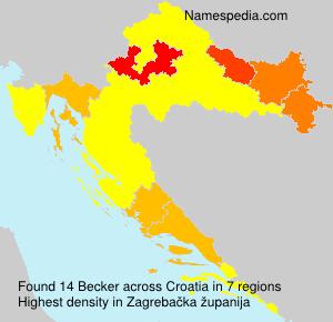 Familiennamen Becker - Croatia
