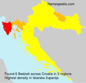 Surname Bedzeti in Croatia