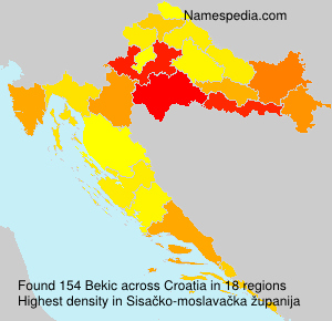 Familiennamen Bekic - Croatia
