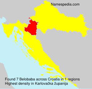 Familiennamen Belobaba - Croatia