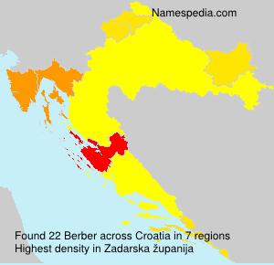 Familiennamen Berber - Croatia