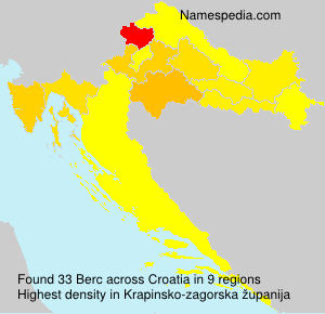 Surname Berc in Croatia