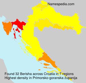 Familiennamen Berisha - Croatia