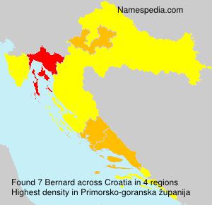 Surname Bernard in Croatia