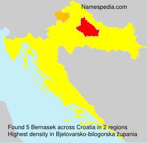 Familiennamen Bernasek - Croatia