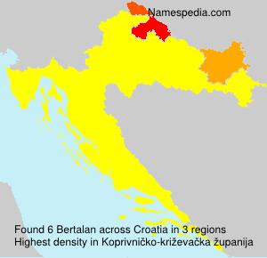 Surname Bertalan in Croatia