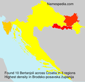 Surname Bertanjoli in Croatia