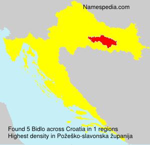 Familiennamen Bidlo - Croatia
