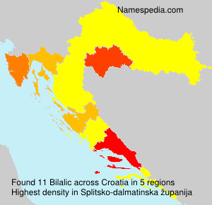 Familiennamen Bilalic - Croatia