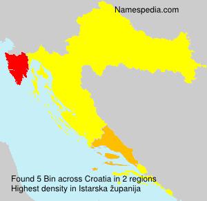 Familiennamen Bin - Croatia
