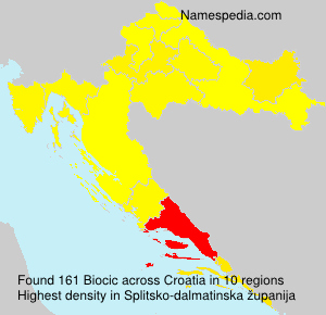 Surname Biocic in Croatia