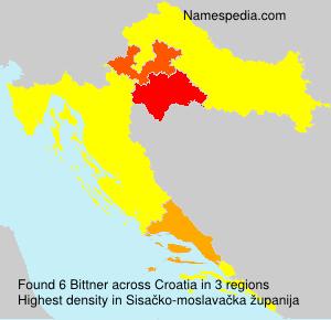 Surname Bittner in Croatia