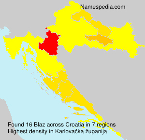 Surname Blaz in Croatia