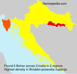 Familiennamen Bohac - Croatia