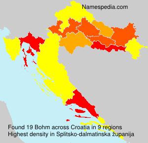 Surname Bohm in Croatia