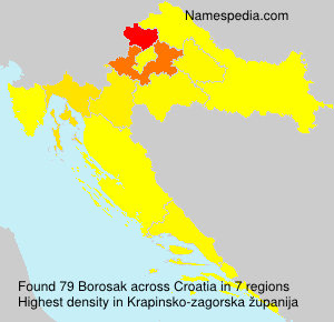 Surname Borosak in Croatia