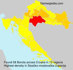 Familiennamen Borota - Croatia