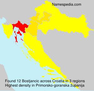 Familiennamen Bostjancic - Croatia