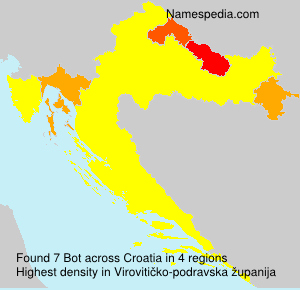 Surname Bot in Croatia