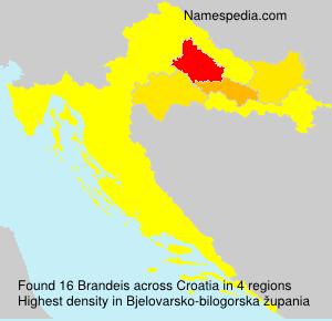 Familiennamen Brandeis - Croatia