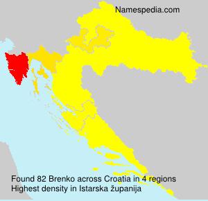 Surname Brenko in Croatia