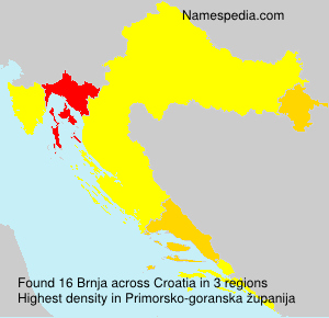 Surname Brnja in Croatia