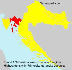 Surname Brusic in Croatia