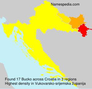 Familiennamen Bucko - Croatia