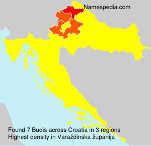 Surname Budis in Croatia