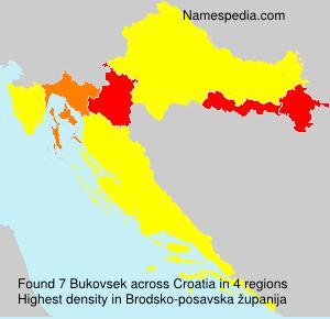 Surname Bukovsek in Croatia