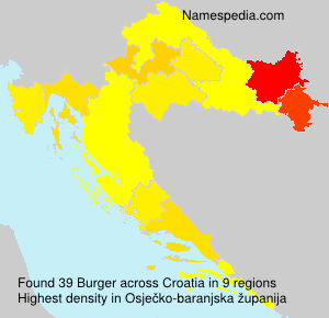 Surname Burger in Croatia