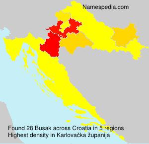 Surname Busak in Croatia