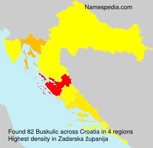 Familiennamen Buskulic - Croatia