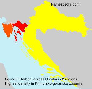 Surname Carboni in Croatia