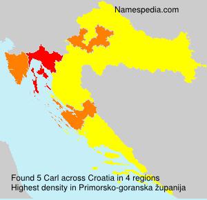 Surname Carl in Croatia
