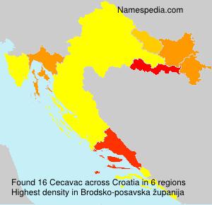 Familiennamen Cecavac - Croatia