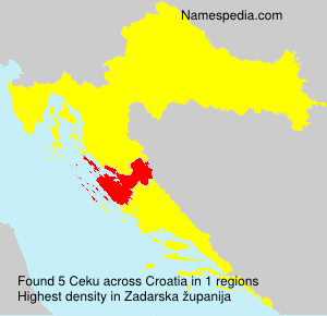Surname Ceku in Croatia