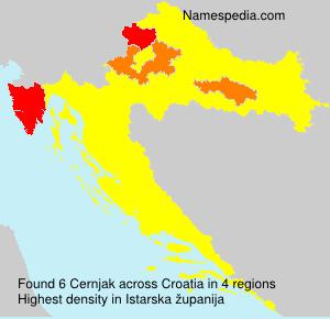 Familiennamen Cernjak - Croatia