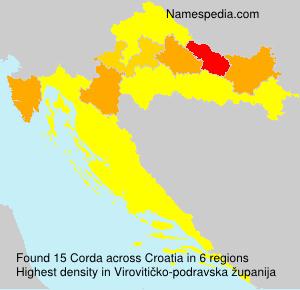 Familiennamen Corda - Croatia