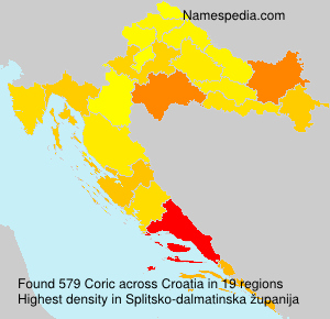 Familiennamen Coric - Croatia