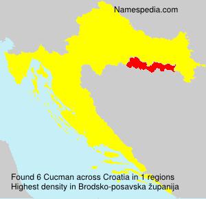 Surname Cucman in Croatia