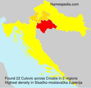 Surname Culovic in Croatia