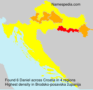 Surname Daniel in Croatia