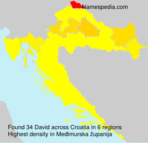 Surname David in Croatia