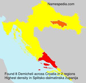 Surname Demicheli in Croatia