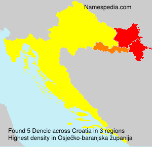 Familiennamen Dencic - Croatia