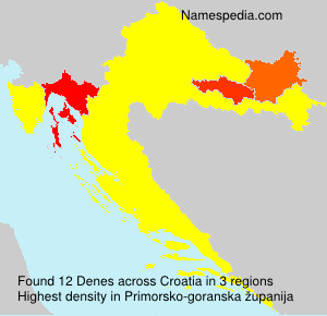 Surname Denes in Croatia