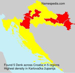 Surname Denk in Croatia