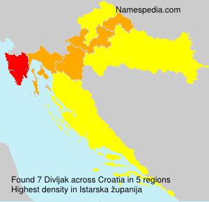Familiennamen Divljak - Croatia